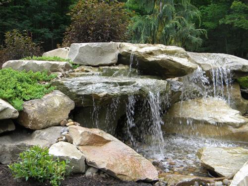 hand sculpted waterfalls