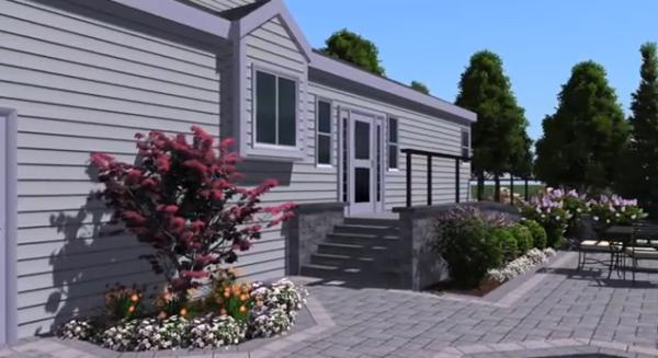 3D Landscape Design Model