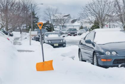 Snow Shovel In the Snow