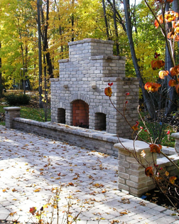 Outdoor Fireplace by Green Impressions