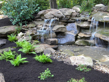 Landscaep Design Shenandoah Valley Waterfall