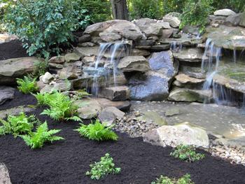 Landscaep Design Shenandoah Valley Waterfall