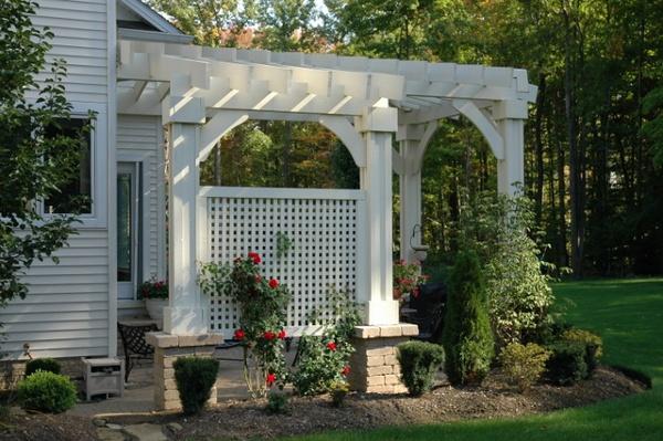 An example of our Concord Cedar Pergola Garden Structure.