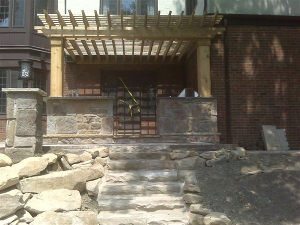 This is a example of a built-in cedar pergola.