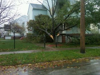 sandy damage in bay village ohio