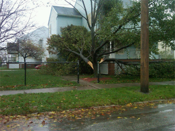 sandy damage in bay village ohio