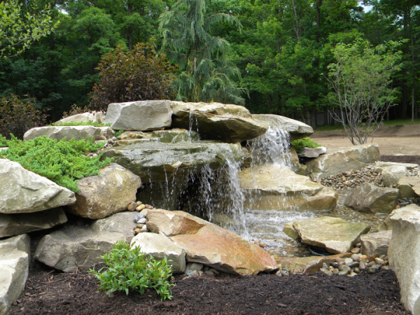 Multi Tiered Stone Pondless Water Feature