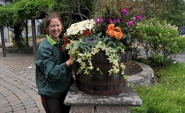 Fall Flower Color Pot