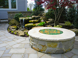 Fire Pit Water Feature