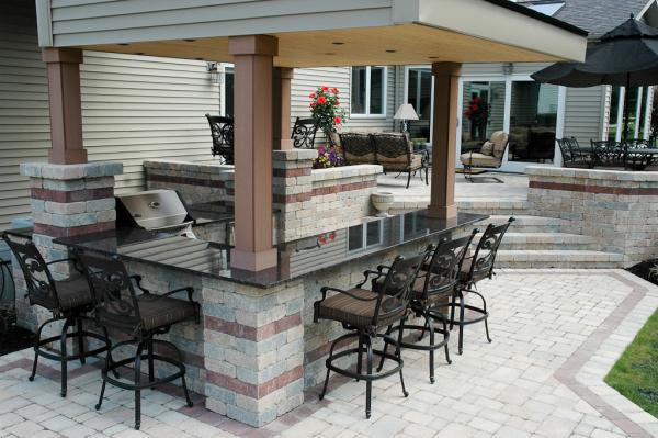 Outdoor Bar Design Using Modular Kitchen Cabinets