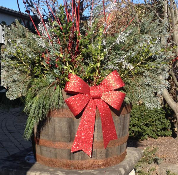 Holiday Landscape Pot