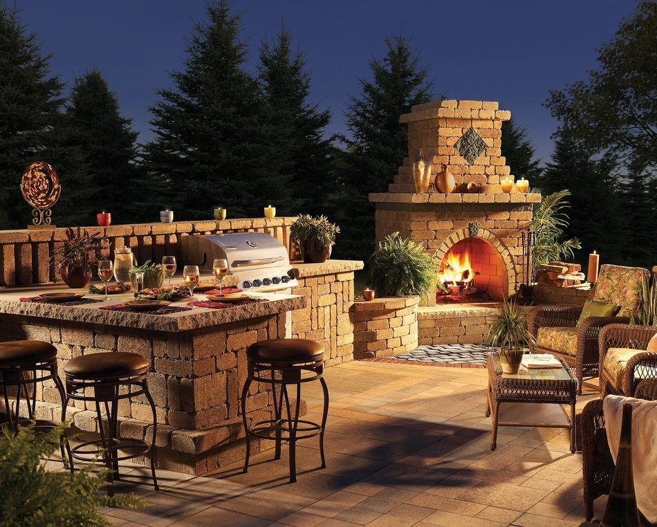 Fire Place Outdoor Living