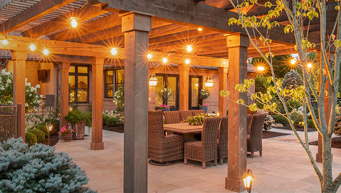Green Impressions Outdoor Pergola with String Lights