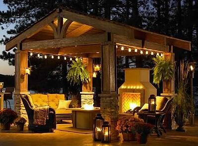 Hanging Lights Pergola