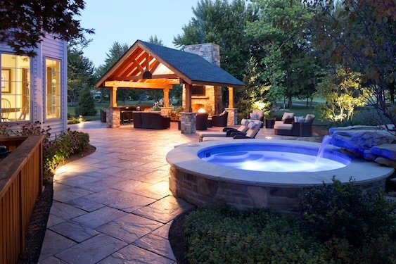 spa-waterfall-backyard-landscape